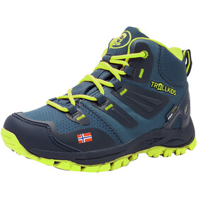 TROLLKIDS Rondane Hiker Mid Shoes Kids navy/lime